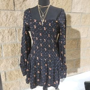 NWT Free People Two Face Print Mini Dress